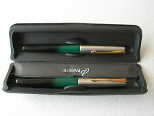 Parker Frontier Set Black / Green Fountain X + Rollerball