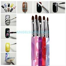 5Pcs 2 Way Nail Art Pen Brush Marbleizing Dotting Painting Drawing Manicure Tool