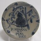 ROWE Pottery Salt Glazed ~Partridge In a Pear Tree~ Plate