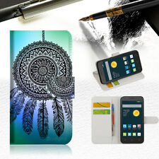 Dream Catcher Wallet Case Cover For Telstra 4GX Smart -- A026