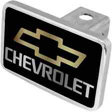 New Chevrolet Gold Logo/Mirrored Word Tow Hitch Cover Plug