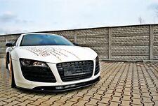 schwarze Cup Spoilerlippe für Audi R8 V8 V10 Spoiler Lippe Front Schwert GT Plus
