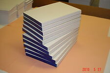 10 Scratch Pads Blank 5x7 White 100 Sheets per Pad, Made in USA