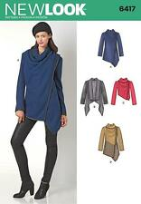 NEW LOOK SEWING PATTERN MISSSES' DRAPED JACKET SIZE XS - XL  6417
