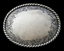 FLOWER FLORAL ENGRAVEABLE WESTERN COWGIRL COWBOY BELT BUCKLE BOUCLE DE CEINTURE