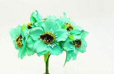 11X9cm Peony Flower Artificial Flower Bouquets Home Floral Decoration Mint Green