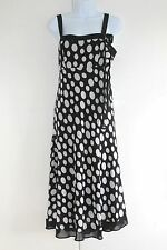 DEBENHAMS DRESS SIZE 12 Black White EURO 40