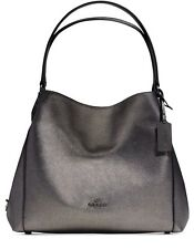 NWT COACH 36464 Edie Shoulder Bag 31 in Refined Pebble Leather GUNMETAL $350