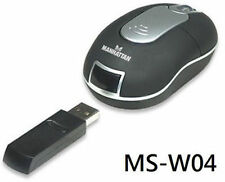 Manhattan Wireless USB Optical Mobile Mini Mouse 177535