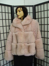 BRAND NEW NORWEGIAN PINK FOX FUR JACKET COAT WOMEN WOMAN SIZE 6 SMALL -$805