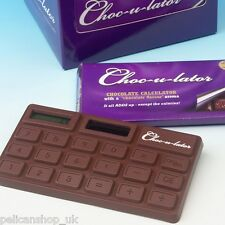 4 x YUMMY CHOCOLATE SCENTED CALCULATOR (FAULT READ LISTING) JOKE PRANK NOVELTY