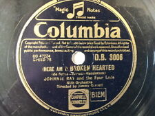 "78 rpm 10"" JOHNNIE RAY broken hearted / please mr. sun"