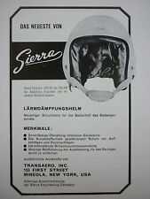4/1966 PUB SIERRA ENGINEERING CASQUE AVIATION HELMET ORIGINAL GERMAN AD