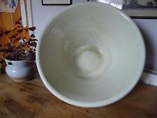 "Antique huge 20"" glazed terracotta dough mixing proving bowl French kitchenalia"