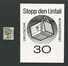 BUND FOTO-ESSAY 702 DAUERSERIE UNFALL 1971 PHOTO-ESSAY PROOF RARE!! e25