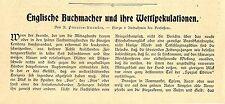 Englische Buchmacher und ihre Wettspekulationen Wetten b.Pferderennen London1906