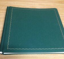 NEW MEMORIES FOREVER 12x12 Green Scrapbook Album 15 white Pages