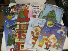 Set Of 8 Large Christmas Gift Bags 15.5 X 11.5 X 4 With Santa & More    NEW ch01