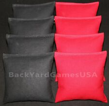 CORNHOLE BEAN BAGS Black & Red ACA Regualtion Corn Toss Game Bags Best Quality!!