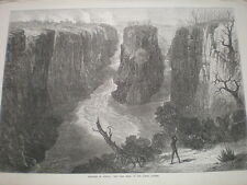 Sketches South Africa Tarn Bend Lower Zambesi river 1872 print my ref S