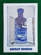 Pubblicità Advertising Cartolina Card vodka (Italy) ABSOLUT BENEDINI n 78/1012