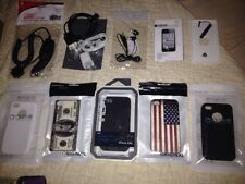 iPhone 4 4S LOT of Accessories: 5 CASES, 3 CHARGERS, Earphones, Screen Protector