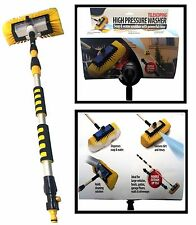 Telescoping High Pressure Washer Soap & Water Scrubber Powerful Rinse