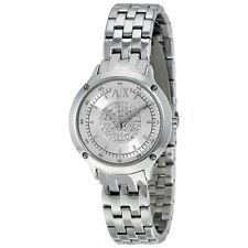 Armani Exchange Silver Crystal-set Dial Stainless Steel Ladies Watch AX5415