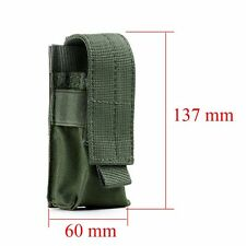 Military Flashlight Torch Belt Holster Holder Case New Pouch Army Green  Kit