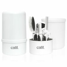 Deluxe Catit 2.0 Long Hair Grooming Kitty Cat Kit Medium Long Hair Brush Comb