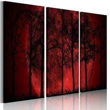 3*/Set Large Moon Red Grove Canvas Print Wall Art Hangings Picture NO frame