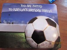 New lot 90 Soccer Birthday Party Invitation for KAITLYN personalized postcard