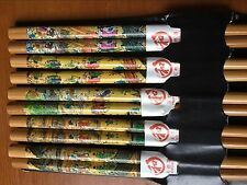 5 Pairs Chopsticks Classic Bamboo Wood Assorted Retro folk Dragonfly pattern