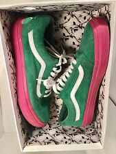 Golf Wang Odd Future Old Skool Vans Pink/Green Rare Tyler The Creator Sold Out