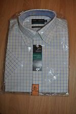 """MARKS & SPENCER BLUE MIX CHECK CLASSIC OXFORD COTTON SHIRT SIZE 14.5""""(BNWT)"""
