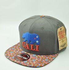 American Needle Cali Golden Bears Sun Buckle Hat Cap Flat Bill Floral Pattern