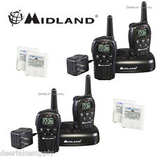 MIdland LXT500VP3 Two Way Radio Walkie Talkie Set 24 Mile Range 4 Pack w/ Cradle