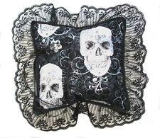 Alternativa punk/biker/goth Anillo de Boda Almohada-B&W Glitter-Reino Unido, Hecha A Mano