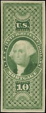 #R95TC4a YELLOW GRN $10 MORTGAGE TRIAL COLOR PLATE PROOF ON THIN CARD XF BQ981