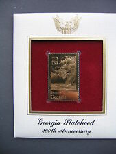 1988 Georgia Statehood 200Th Anniversary 22kt Gold GOLDEN FDC Cover FDI STAMP