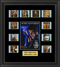THE CABLE GUY FRAMED FILM CELL MEMORABILIA , JIM CAREY , MATHEW BRODERICK