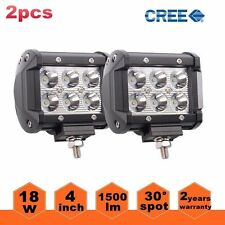"2x 4"" 18W CREE LED Work Light Bar Spot Offroad 4WD Fog ATV SUV Driving Lamps XUN"