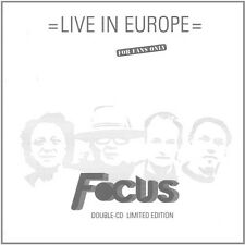 Live In Europe - Focus (2016, CD NEUF)2 DISC SET