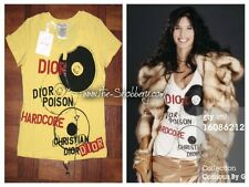M NEW Christian Dior DJ Poison Hardcore Logo Pierced Star Zipper Chain Tee Shirt