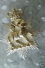 Staybrite Queen's Royal Surrey Regiment Collar Badge Anodised maker GAUNT