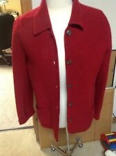 Womens Evan-Picone Red Worsted Wool Jacket Button Front Size Large