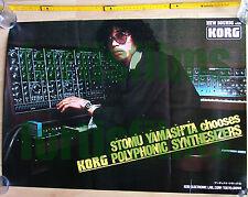 Promotional Poster Stomu Yamashta KORG PS 3300 Synthesizer orig 1977 Werbeplakat