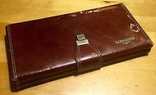 LONGINES Vintage Watch Box Pouch Leather Conquest Dolcevita Diver Calatrava OEM