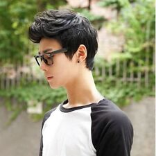 New Handsome Boys Full Wig New Korean Short Black Men's Male Hair Cosplay Wigs