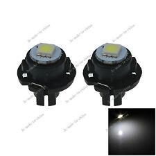 2x White T6.5 Neo Wedge 1 LED 5050 Car Bulb Dashboard Control Lights 12V N501